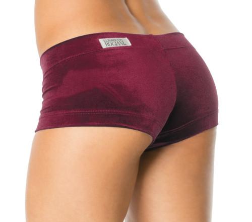 Lowrise Mini Shorts Stretch Velvet