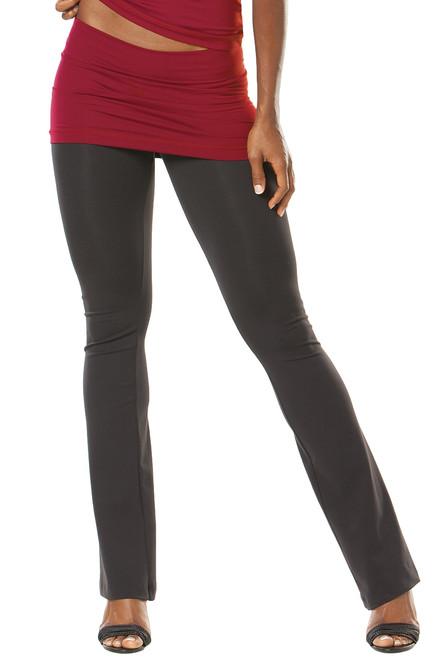 """Transformable Skirt Pants- bootleg - Dark Red on. Black - FinalSale- Medium - 13"""" SKIRT - 34"""" INSEAM (1 AVAILABLE)"""