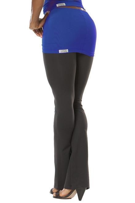 "Transformable Skirt Pants- bootleg - Royal on Black - Small - SKIRT 13"" - INSEAM 32"" (1 AVAILABLE)"