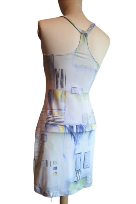Racer Doll Dress - PENCIL PRINT - Final Sale - Small (1 AVAILABLE)