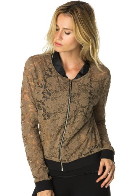 Bomber Jacket - Lace w/ Wet Collar