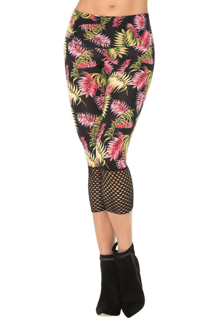 JNL - High Waist Miami 3/4 Leggings w/ Mesh