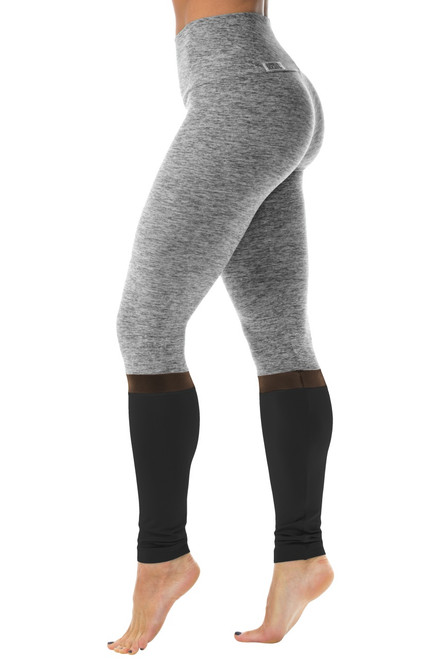 Elevate High Waist Leggings - Butter / Mesh / Supplex