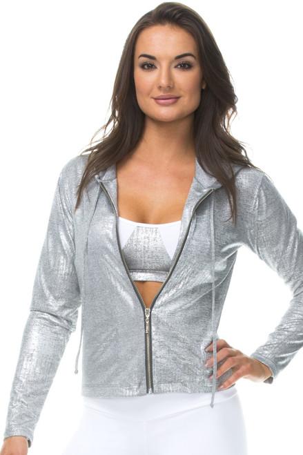 Metallic Jacket w/ Hood