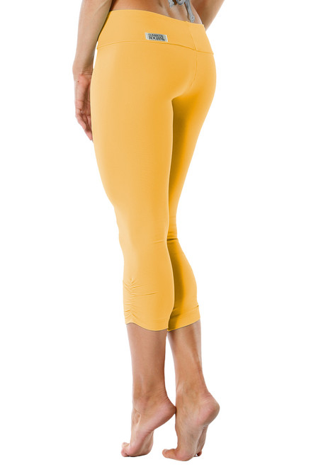 Sport Band Side Gather 3/4 Leggings - Supplex - Ginger - Final Sale - XS & L