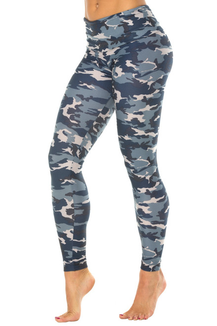 High Waist Leggings - Brushed Print