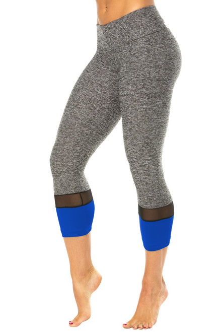 Toto Sport Band 3/4 Leggings - Mesh & Supplex Accent on Butter