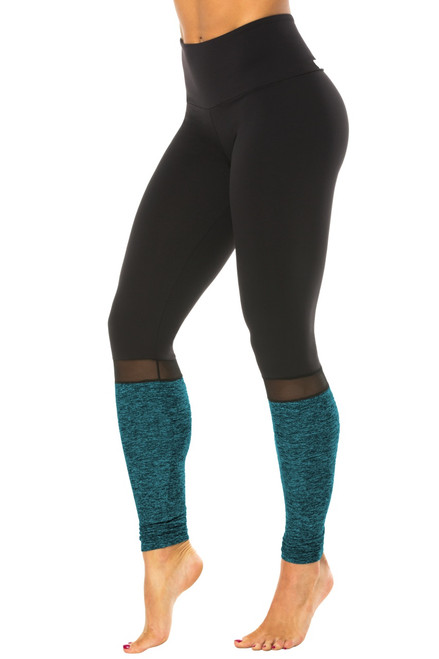Salia High Waist Leggings - Mesh Accent on Supplex/Butter