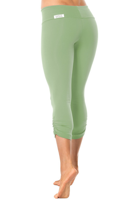 Sport Band Side Gather 3/4 Leggings - Supplex - Garden - Final Sale - XS