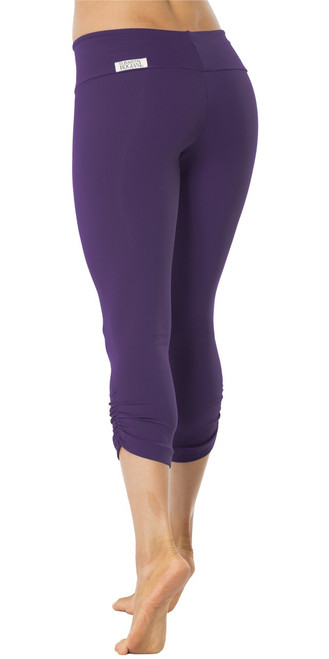 Sport Band Side Gather 3/4 Leggings - Supplex - Navy - Final Sale - XS