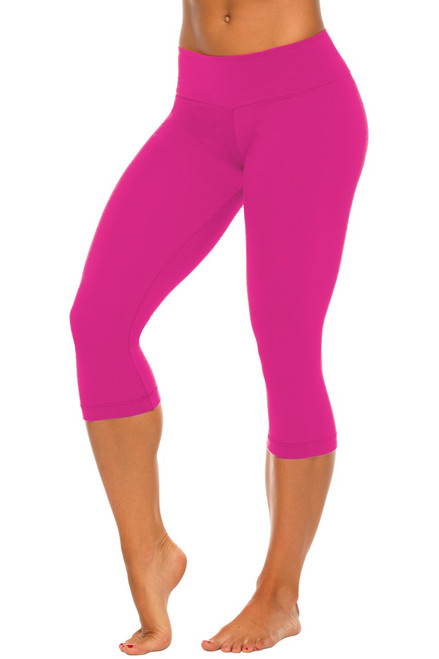 Sport Band 3/4 Leggings-Solid Color Supplex
