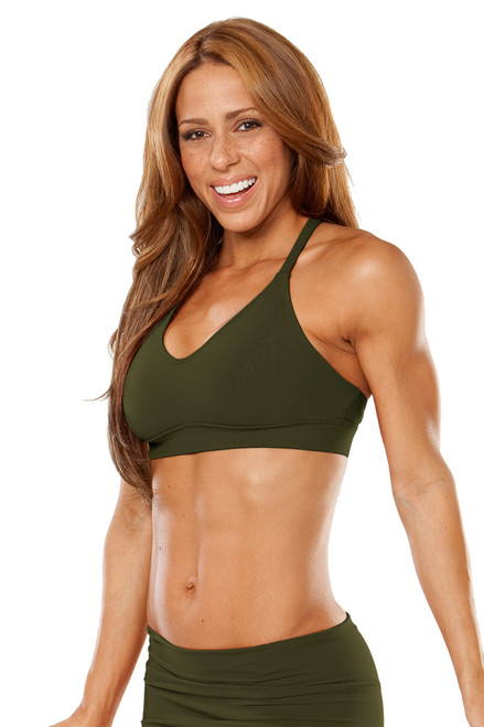 Racer Doll Bra - Supplex - FINAL SALE - Army - XS, S & L