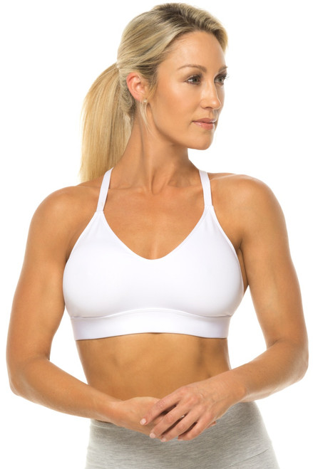 Racer Doll Bra - White - FINAL SALE - LARGE