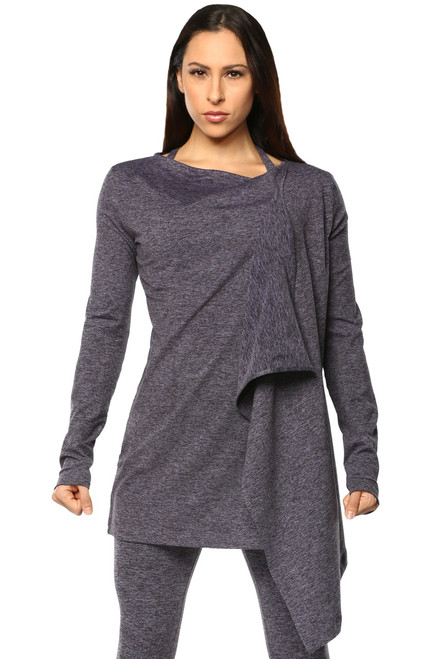 Long Sleeves Long Front Wrap - Double Weight Butter