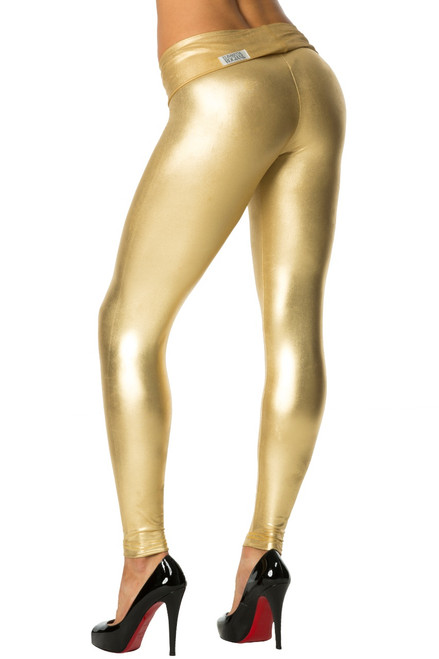 Rolldown Leggings - Metallic