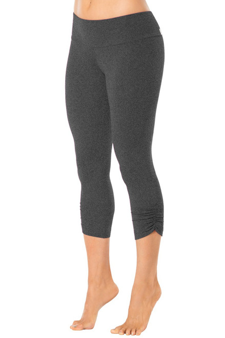 Sport Band Side Gather 3/4 Leggings - Supplex - Mars Grey - Final Sale