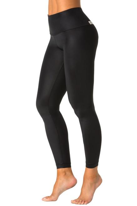 Wet Black High Waist Leggings - FINAL SALE - MEDIUM (2 AVAILABLE)