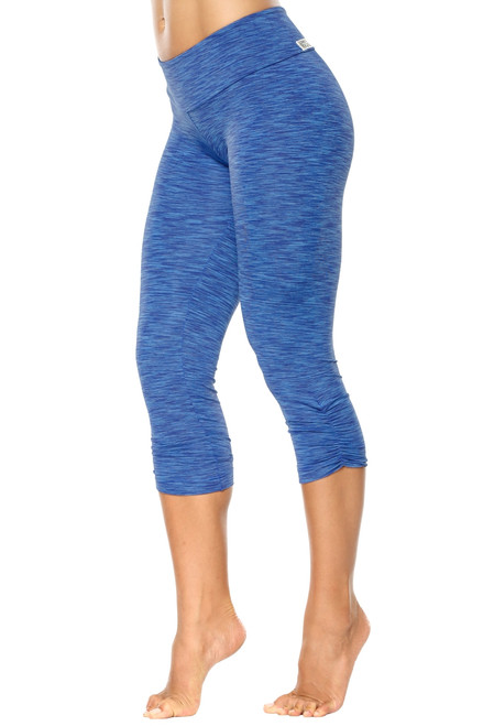 Tone Sport Band Side Gather 3/4 Leggings - FINAL SALE - MEDIUM (1 AVAILABLE)