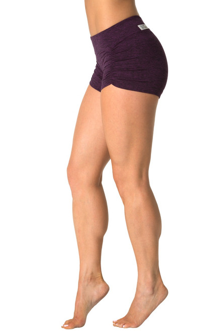 Kala Gather Front Mini Band Shorts - Double Weight Butter