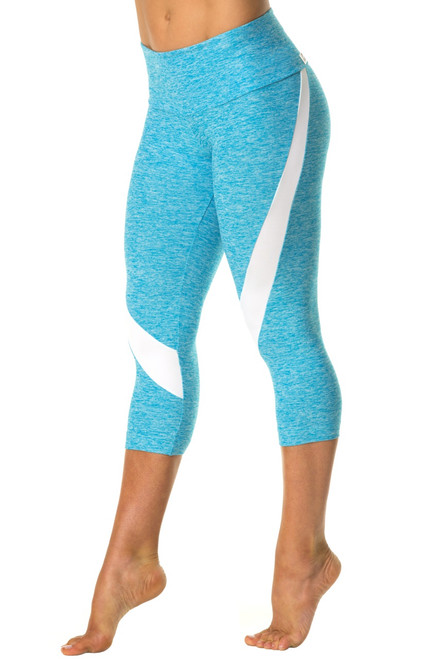 High Waist Clara 3/4 Leggings - Supplex Accent on Butter