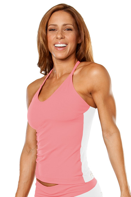 Racer Doll Top - Dual - Coral on White - Final Sale - Large (1 Available)