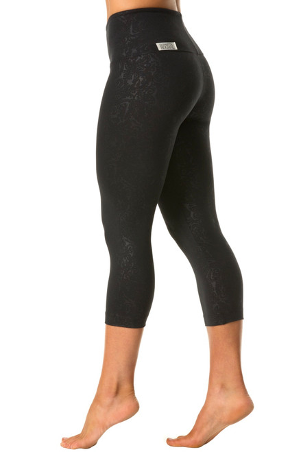 High Waist Band 3/4 Leggings - Damasque