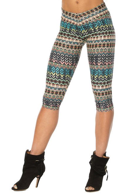 Native 3/4 Leggings - FINAL SALE - SMALL (1 AVAILABLE)