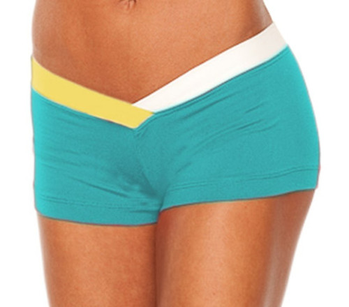 """JNL - Firefly Shorts - FINAL SALE - WHITE AND JELLOW ACCENT ON TEAL- MEDIUM- 3"""" INSEAM (1 AVAILABLE)"""