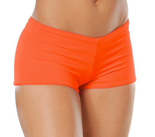 "Buti Lowrise Double Layer Boy Shorts - Supplex - FINAL SALE - Tangerine - SMALL - 1.75"" Inseam (1 available)"