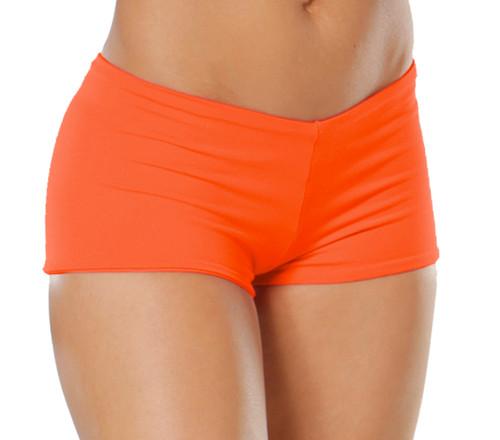 "Lowrise Double Layer Boy Shorts - FINAL SALE - TANGERINE - MAGAZINE SAMPLE - MEDIUM - 1.75"" INSEAM (1 AVAILABLE)"