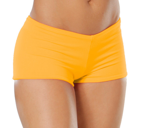 "Lowrise Double Layer Boy Shorts - FINAL SALE - TANGERINE- SMALL- 1.75"" INSEAM (1 AVAILABLE)"