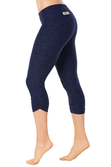 Sport Band Side Gather 3/4 Leggings - Butter Denim- Final Sale - XSmall