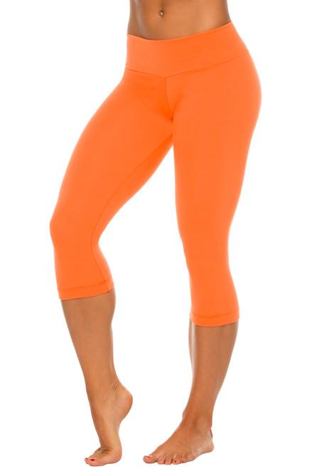 Stretch Cotton Sport Band 3/4 Leggings