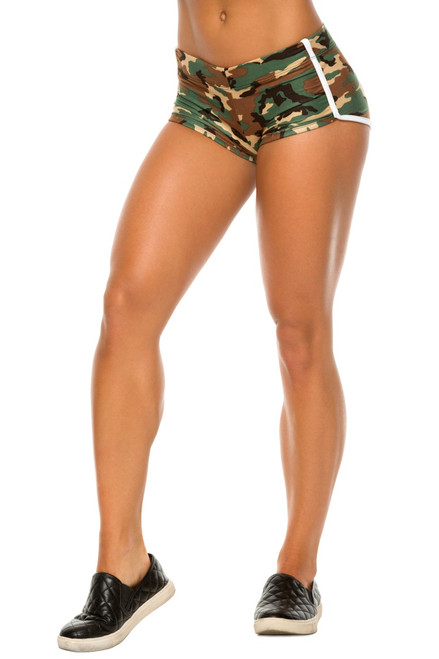 Retro Shorts - Supplex Accent on Green Camo