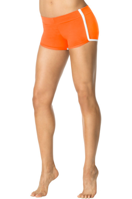 Retro Shorts - Orange Stretch Cotton