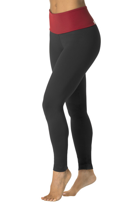 High Waist Leggings - Contrast Color Supplex