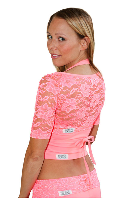 Lace Yoga Wrap - Coral - Final Sale - Small (1 Available)