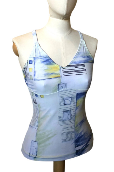 Racer Doll Top - Pencil Print - Final Sale - Small (1 Available)