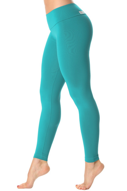 Sport Band Leggings - Teal - Final Sale