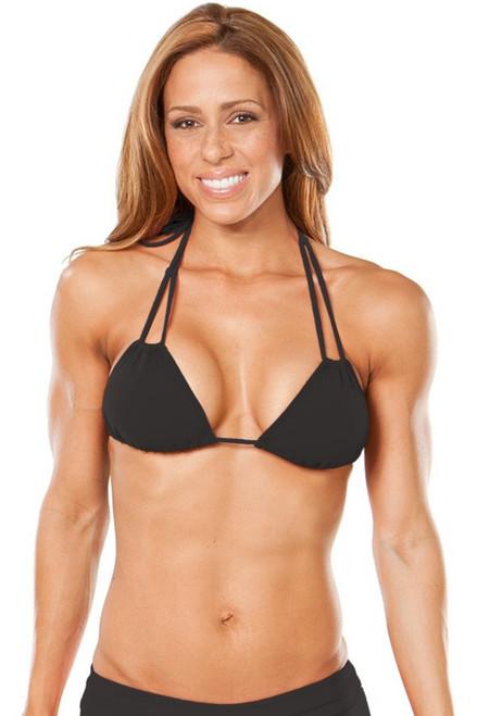 Cancun Bikini-BLACK BRA- FINAL SALE- MEDIUM (1 AVAILABLE)