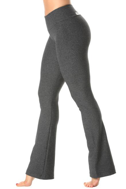 Mars Grey Sport Band Bootleg Pants