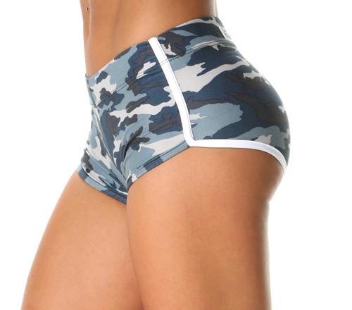 Retro Shorts - Camo Blue
