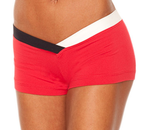 """JNL - Firefly Shorts - FINAL SALE - BLACK & WHITE ACCENT ON VEGAS RED - MEDIUM - 3"""" INSEAM (1 AVAILABLE)"""