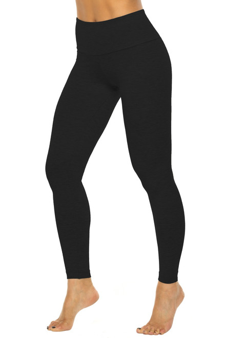 "High Waist Leggings - Stretch Black Cotton FINAL SALE - XSMALL - 28"" INSEAM (1 AVAILABLE)"