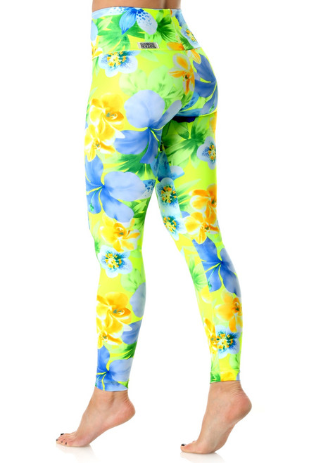 High Waist Leggings -Limited Edition - Liquid Flowers