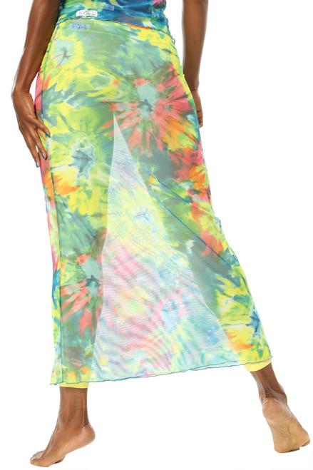 High Waist Mesh Maxi Skirt