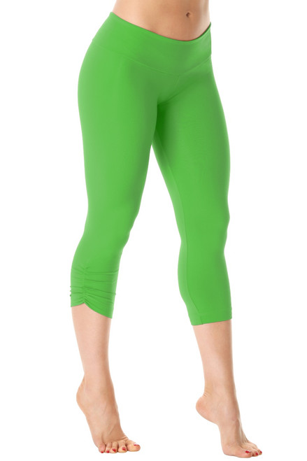 Sport Band Side Gather 3/4 Leggings - Supplex - Mela - Final Sale