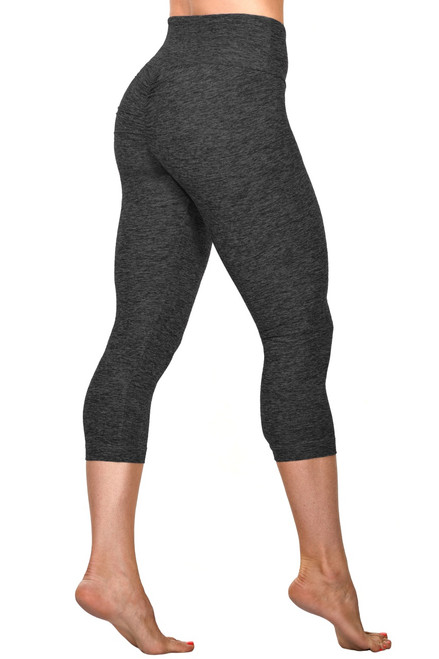 Bambola Scrunch Back High Waist 3/4 Leggings - Butter