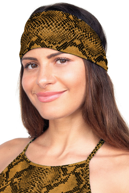 Snake Wide Tied Back Headband