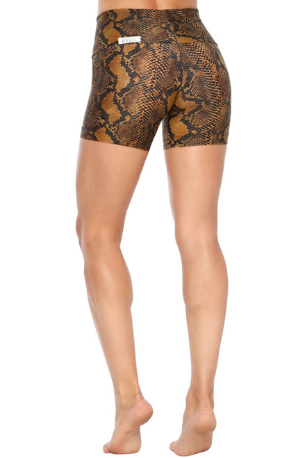 Cobra Bike High Waist Shorts   - Snake Print